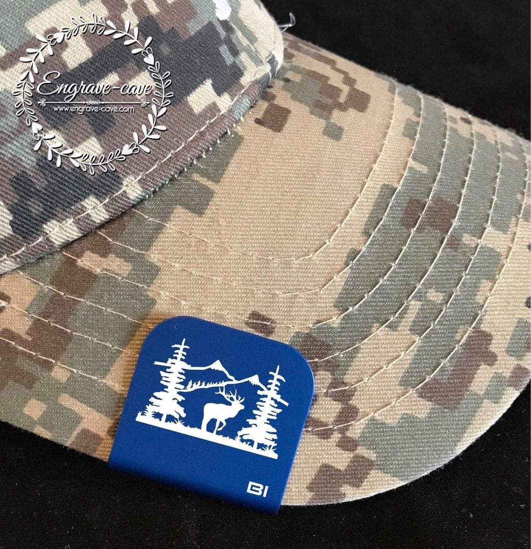 Hat Clip- Mountains & Elk