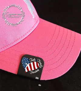 Hat Clip- Faith Family Freedom