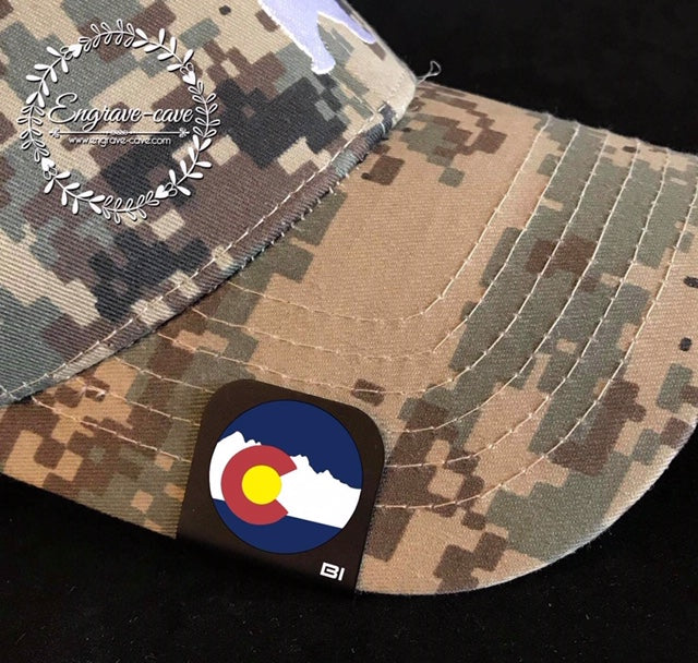 Hat Clip- Colorado Flag Circle