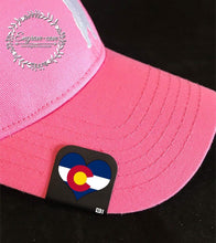 Load image into Gallery viewer, Hat Clip- Colorado Flag Heart