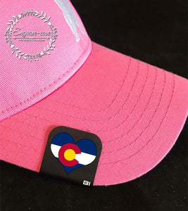 Hat Clip- Colorado Flag Heart