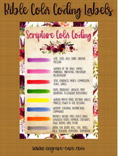 Load image into Gallery viewer, Bible Color Coding Label - Boho