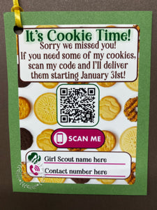 Cookie Time Order Tags