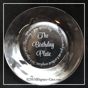 The Birthday Plate