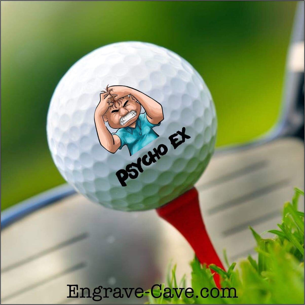 Psycho Ex Male Golf Ball