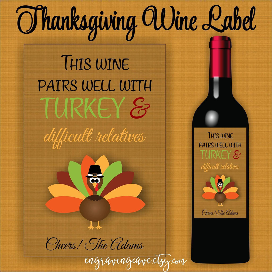 Turkey & Difficult Relatives Label