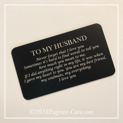 Husband Wallet Card