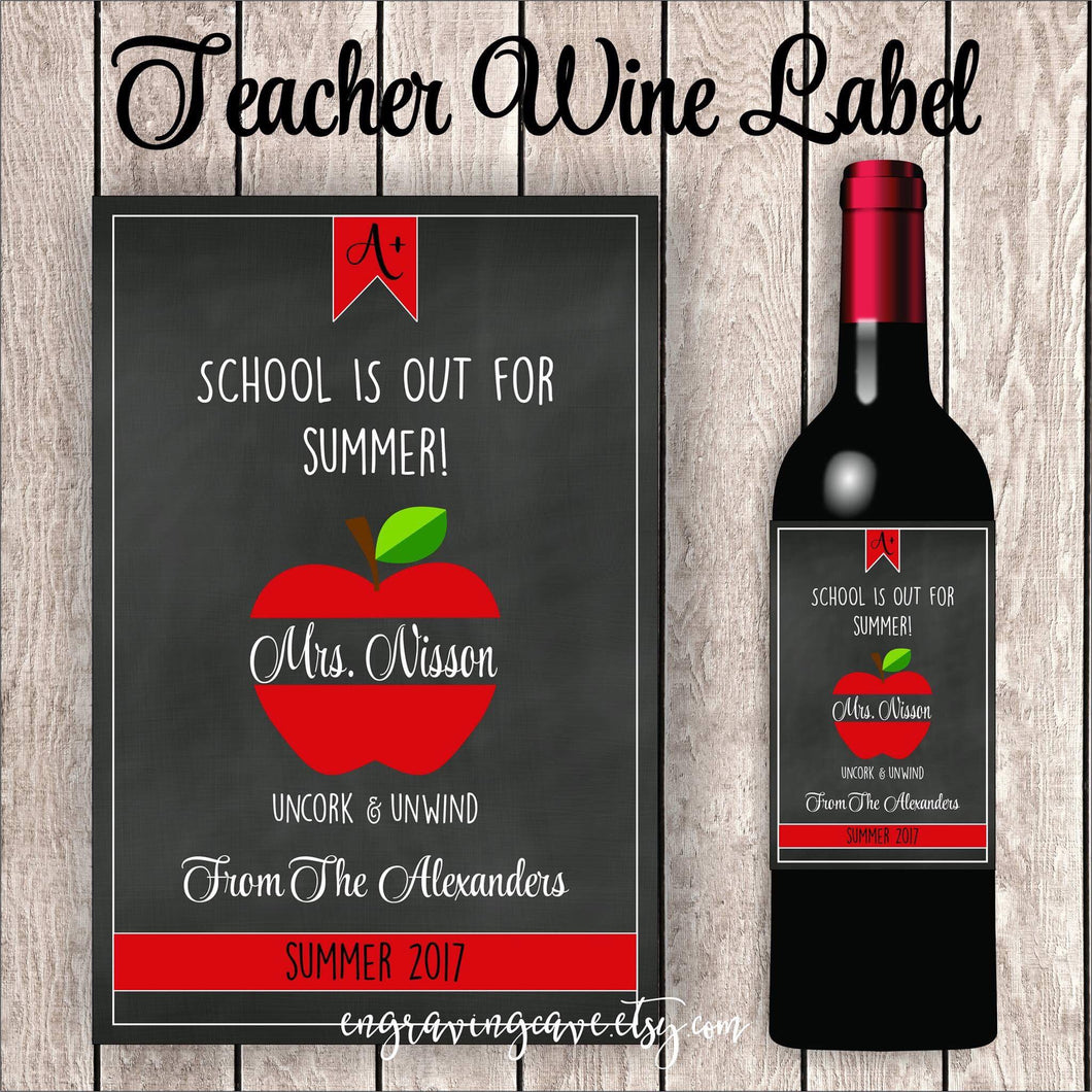 School Is Out Label