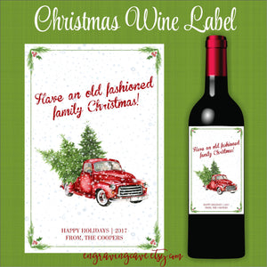 Old Fashioned Family Christmas Label