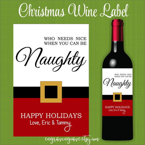 Naughty List Label