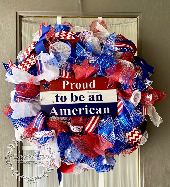 Wreath Sign Proud to be an American