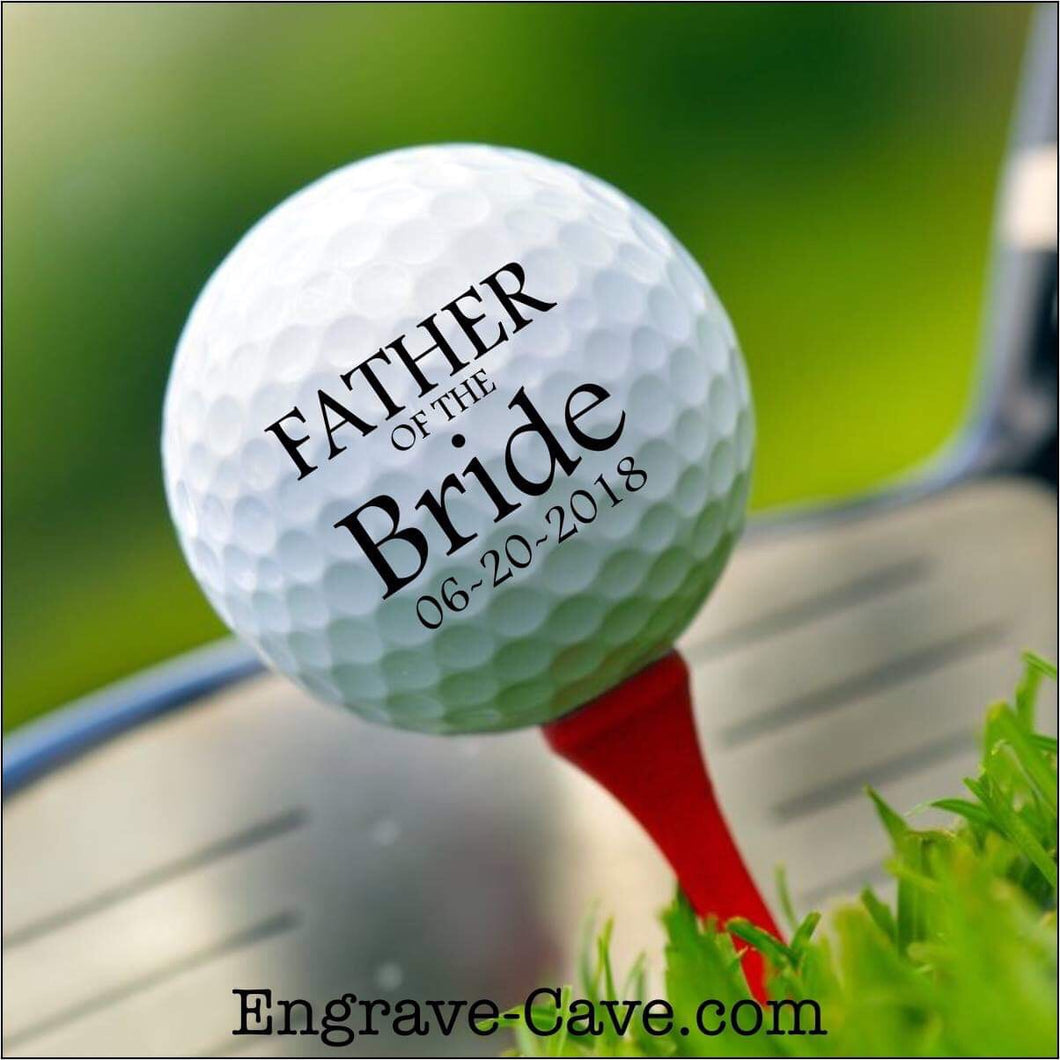 Father of the Bride Golf Ball