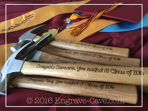 Graduation Engraved Hammer