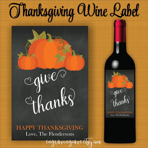 Give Thanks Label