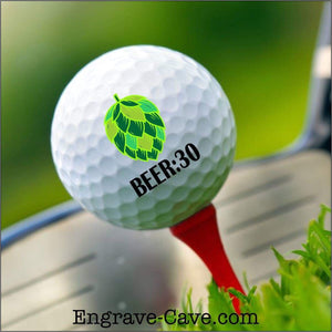 Beer:30 Hops Golf Ball