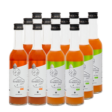 Load image into Gallery viewer, YAMATO KOMBUCHA Classic & Green -Mixed Tastes Pack- 280ml x 12 bottles