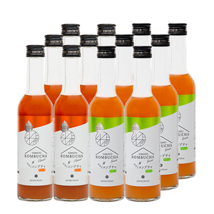 YAMATO KOMBUCHA Classic & Green -Mixed Tastes Pack- 280ml x 12 bottles