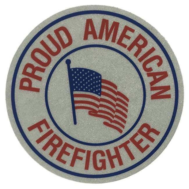 "Pacific Reflex Signs Decals 3"" Proud American Firefighter Decal"