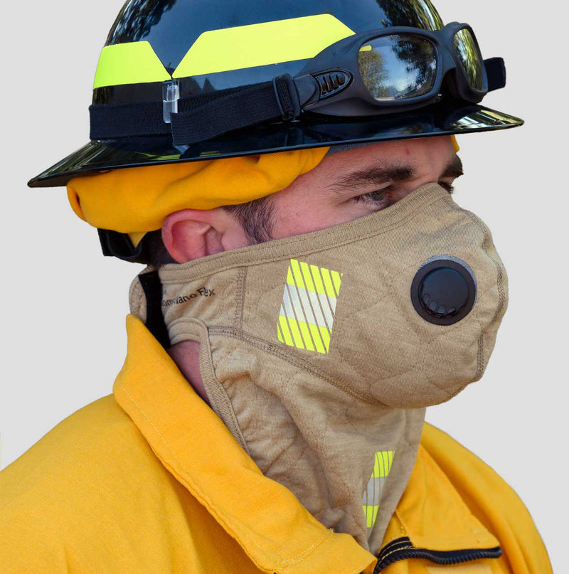 PGI Wildland Mask Fire_Safety_USA Barriaire™ Gold Particulate Mask with neck gaiter and 3M Trim