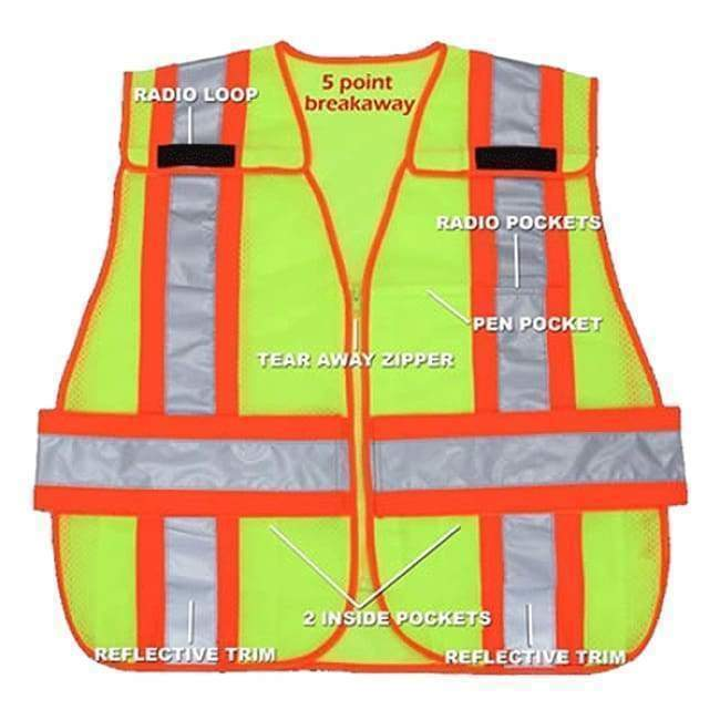 R & B Fabrication Safety Vests Breakaway Vest