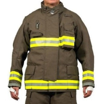 Innotex Bunker Gear Fire_Safety_USA Innotex Rapid Delivery Pioneer Khaki Bunker Coat - RDG20