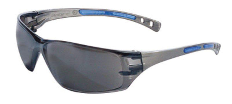 Radnor Glasses Fire_Safety_USA RADNOR Cobalt Classic Gray Frameless Safety Glasses With Gray Polycarbonate Anti-Fog/Anti-Scratch Lens