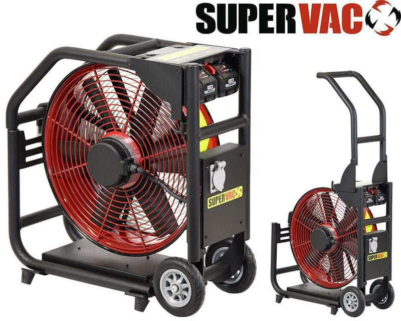 Tempest Fans & Blowers Fire_Safety_USA Super Vac Milwaukee Battery PPV Fan
