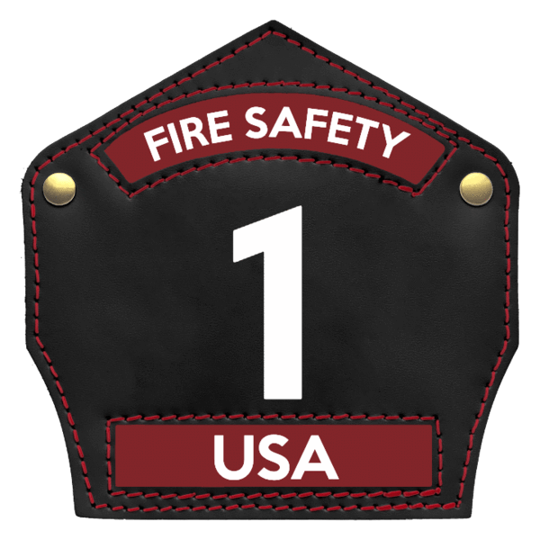 "Fire Safety USA Leather Front Traditional 6"" Leather Front"