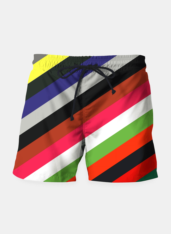 Color Stripes Shorts - Trendsetterco