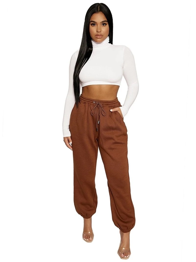Luxurious brown sweatpant