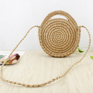 Oswego Straw Handbag / Wooden Handle - Trendsetterco