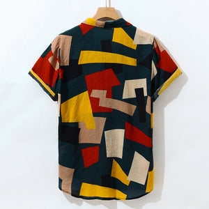 """The Geometric"" pattern Hawaiian Shirt - Trendsetterco"