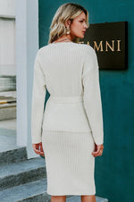 Two-pieces white skirt and dress - Trendsetterco