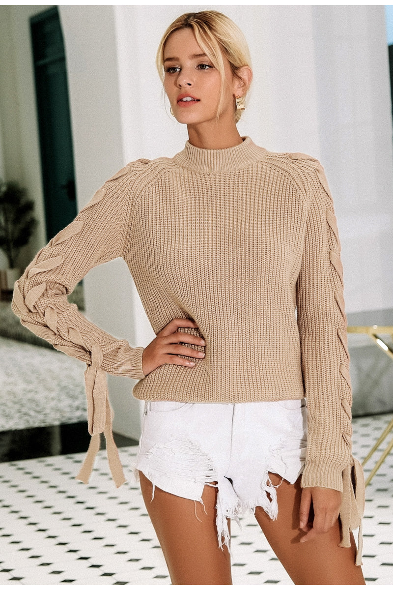 O neck knitted sweater - Trendsetterco