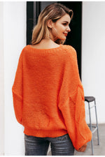 Orange oversize sweater - Trendsetterco