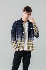 Plaid contrast color shirt - Trendsetterco
