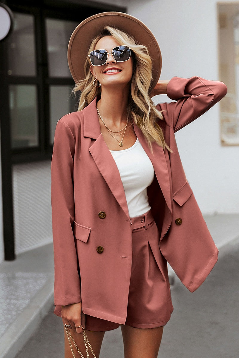 Elegant two-pieces blazer suit - Trendsetterco