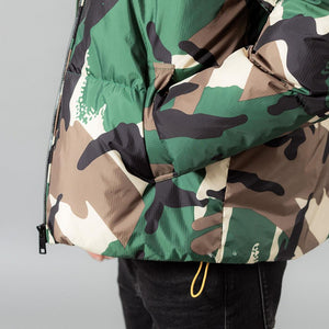 Camouflage hooded contrast color coat - Trendsetterco