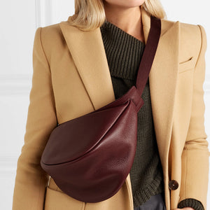 Half Moon PU Leather Chest bag - Trendsetterco
