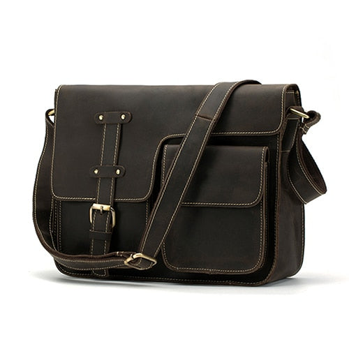 Leather Shoulder Bag - Trendsetterco