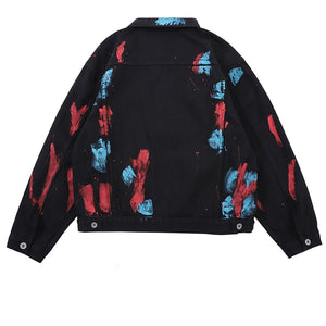 Paint Splash Ink Denim jacket - Trendsetterco