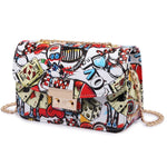 Graffiti Lady designer handbag with high quality chain - Trendsetterco