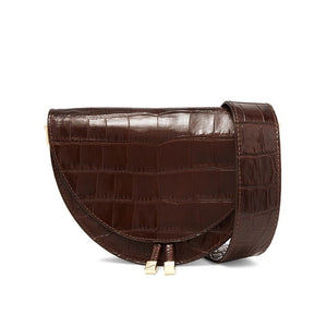 Fashion Crocodile Semicircle Saddle Bag - Trendsetterco