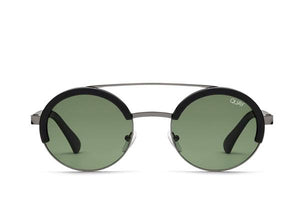 QUAY 'Come Around' Sunglasses Black/Green