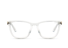 QUAY 'Hardwire' Clear/Blue Sunglasses