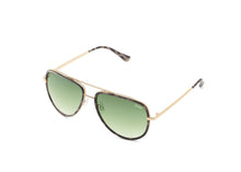 Quay All In Mini Sunglasses in Milky Camo/Green Lens
