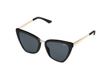 Quay Reina Mini Sunglasses in Black/Black Fade Lenses