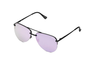 "Quay ""La Playa"" Black/Purple Sunglasses"