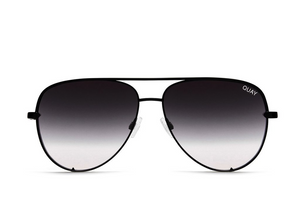 QUAY 'High Key' Sunglasses Black/Fade