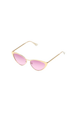 QUAY 'Bo$$' Sunglasses Gold/Purple